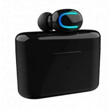 Mini Auricolare Cuffia Bluetooth 5.0 Wireless Senza Fili con Base carica solare