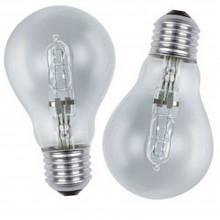 2x Lampadina alogena attacco E27 standard 42W basso consumo eco 30%
