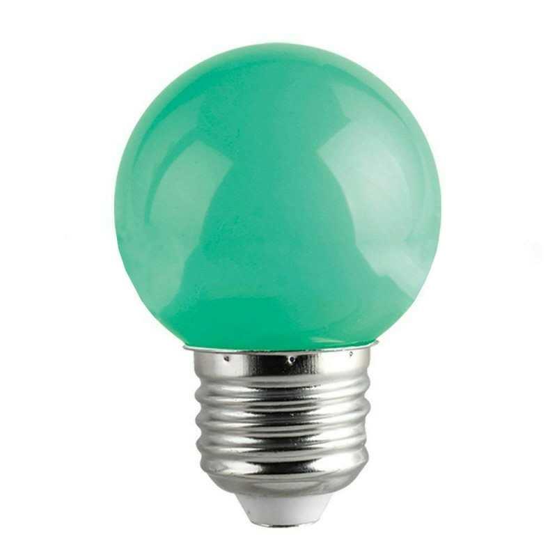 Lampadina LED 1W mini globo E27 colore rosso decorazione casa locale luce ROSSA