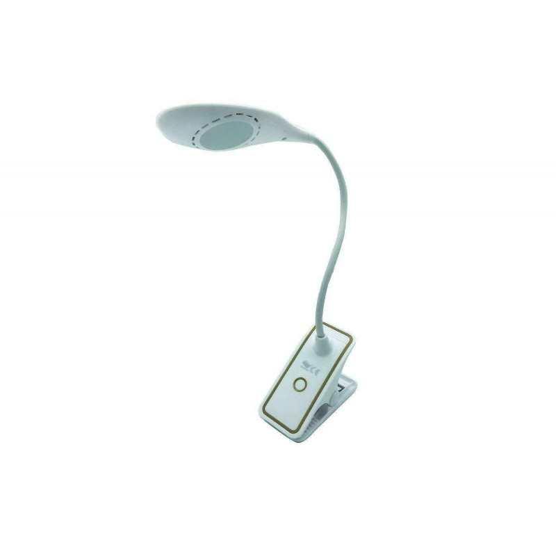 Lampada LED tavolo pinza morsetto luce notte lettura lavoro studio TE-B0034 USB