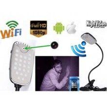 Lampada da tavolo wifi con camera e audio integrati WI FII HD iOS android spia