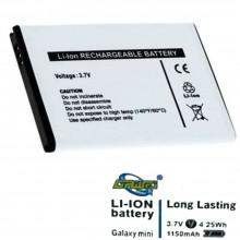 Batteria sostitutiva smartphone compatibile Galaxy S3 mini 1150mah ricambio