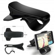 Supporto Auto smartphone porta cellulare GPS MP4 cruscotto CLIP nero 6,5 pollici