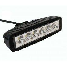 Faro proiettore LED 18W auto fuoristrada barra luce mezzi da lavoro barca