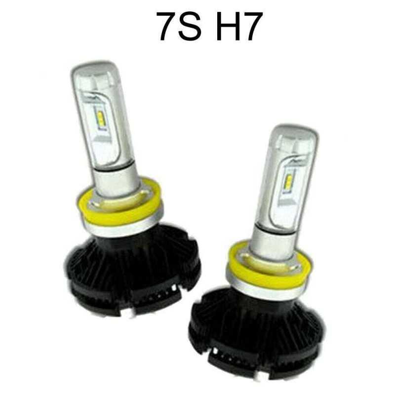 2x lampade fari ricambio 6000K auto 5000 lm alta luminosità 7S H4
