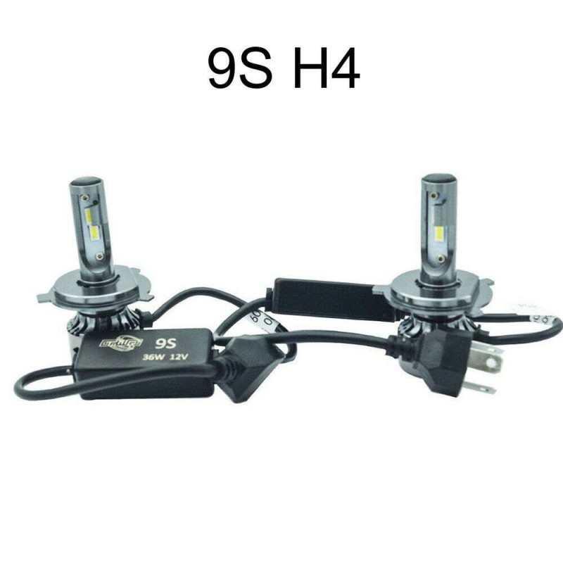 2x lampade fari ricambio 6000K auto 4200 lm alta luminosità 9S H1