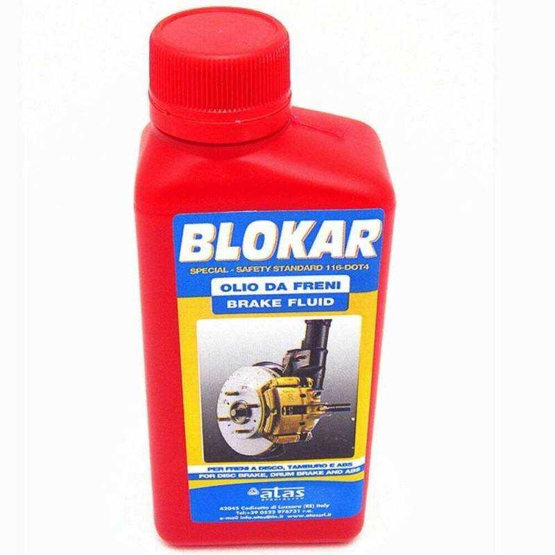 1x Olio freni auto BLOKAR grossa cilindrata tamburo sistemi ABS 250ml
