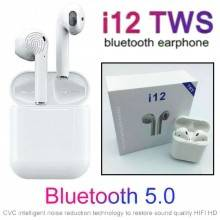 Auricolari wireless cuffie bluetooth I12 TWS PODS IOS ANDROID slim bluetooth 5.0