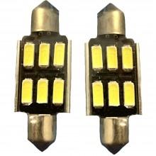 1x Lampadina T10 1 LED Canbus auto no errore luci COB 12V ricambio SMD 12W