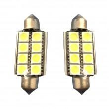 2x Lampadina siluro 42mm 6 LED Canbus auto no errore luci 12V 5036 ricambio SMD
