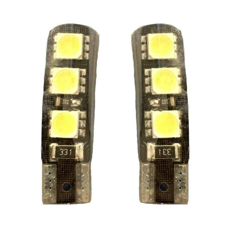 2x Lampadina siluro 42mm 8 LED Canbus auto no errore luci 12V 5036 ricambio SMD