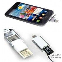 Chiavetta traferimento dati lettore OTG smartphone microSD cellulare reader