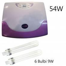 Lampada LED UV ricostruzione unghie 54W nailart fornetto timer 604 con lampadine