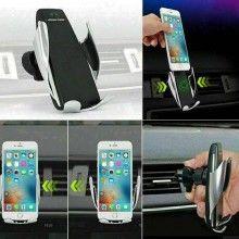 1x Supporto smartphone presa aria auto ricarica wireless Qi caricatore charger