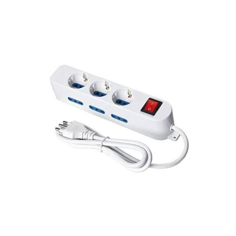 Multipresa ciabatta elettrica 9 POSTI 10/16A Bipasso 3Schuko 250V Max:2500W 1,5MT EXTRASTAR