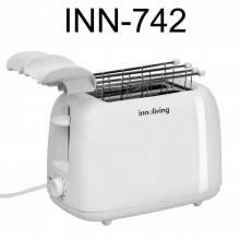 INNOLIVING Tostapane INN-742 pane toast cucina espulsione tasto STOP tostiera