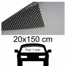 Pellicola adesiva parasole parabrezza forata oscura vetro sole effetto carbonio