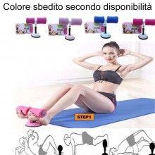 Attrezzo in spugna addominali fitness ventosa sport caviglie curl push up sit up
