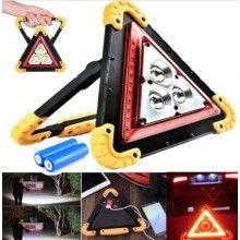 Triangolo luminoso emergenza torcia ricaricabile ABS batteria SOS auto lampada