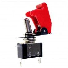 Switch interruttore aeronautico Rosso leva ON OFF ghiera girevole 12V 20A