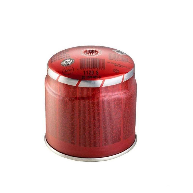 Cartuccia gas isobutano Campingaz CP250 ricambio fornelletti campeggio valvola