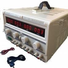 Alimentatore Stabilizzato da banco Duale Trasformatore lineare regolabile fino a 60V 10A Parallelo o Seriale