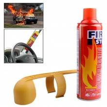 Mini estintore schiumoso sicurezza casa auto 500ml spegni fuoco schiuma