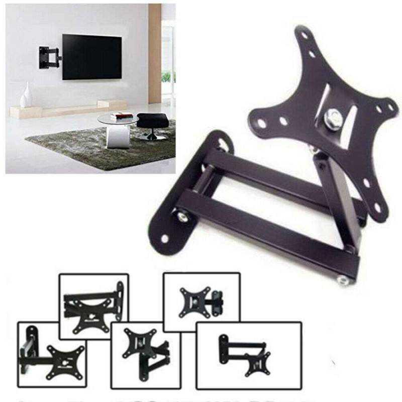 Porta Tv Lcd Da Muro.Staffa Supporto Per Tv Da 10 A 27 Pollici Braccio Universale Televi