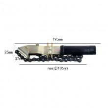 Chiave filtro olio 105mm auto veicoli a nastro acciaio avvitare rimuovere LA0503
