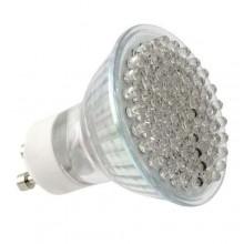 10x lampadine 80 led attacco GU10 6W illuminazione bianca interni casa ufficio