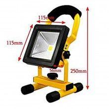 Faretto luci LED batterie luce ricaricabile lampada 30W esterno camping 804