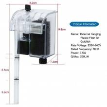 Filtro esterno acquario casa pesci XP-06 plastica trasparente acqua dolce salata