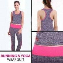 Tuta completa yoga sport abbigliamento donna pantalone canotta fitness