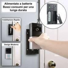 Videocitofono wireless casa senza fili 270p visione notturna citofono home