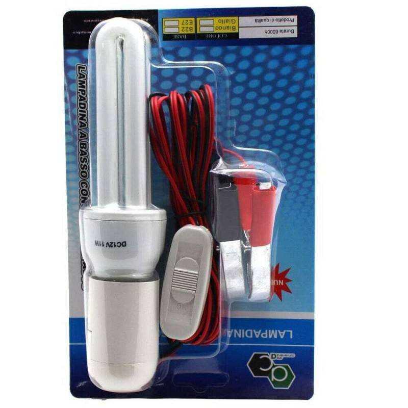 Lampadina E27 basso consumo con interruttore on off di emergenza 11W