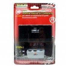 Caricabatterie auto accendisigari 60W smartphone 2 prese USB 5V fusibile tablet