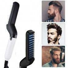 Piastra Uomo multifunzione pettine barba capelli styling lisciante
