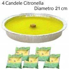 3x Candela citronella anti zanzare esterni alluminio estate giardino 22cm