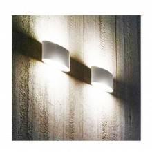 Plafoniara da interno GS-5016 gesso bianco muro parete casa moderno G9 ovale 25W