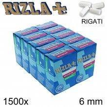 Filtri RIZLA Regular 8mm lisci sigarette 1000x filtro fumo 10 confezioni da 100