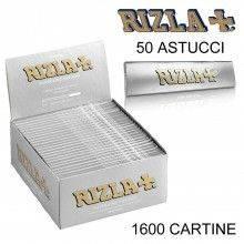 Box RIZLA Silver 25 libretti doppi 2500 cartine corte combustione ultra lenta