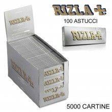 Box RIZLA Silver 50 libretti singoli 1600 cartine lunghe combustione ultra lenta