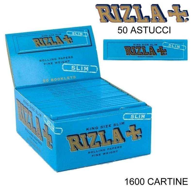 Box RIZLA Silver 100 libretti singoli 5000 cartine corte combustione ultra lenta