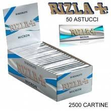 Box RIZLA Blue 100 libretti singoli 5000 cartine corte combustione lenta tipo B