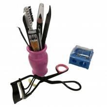Kit make up viaggio donna mini piegaciglia scovolini matita pedicure