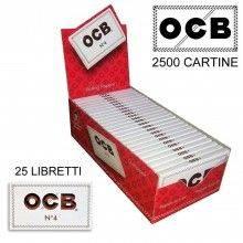 Box RIZLA White 50 libretti singoli 2500 cartine micro forate combustione veloce