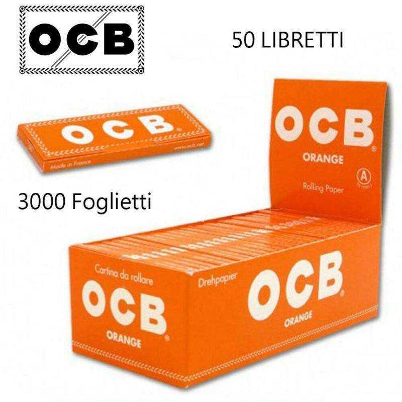 Cartine X Tabacco.Ocb Box Ocb Orange 50 Libretti 3000 Cartine Corte Rollare Sigarett