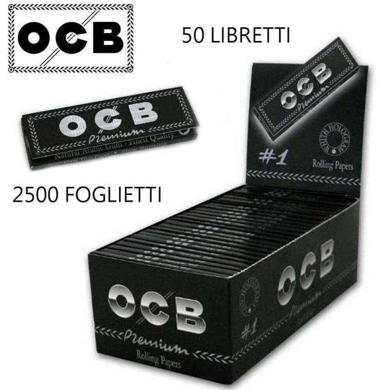 Cartine X Tabacco.Ocb Box Ocb Premium 50 Libretti 2500 Cartine Corte Rollare Sigaret