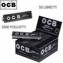 Box OCB Premium slim 50 libretti 1600 cartine lunghe rollare sigarette tabacco