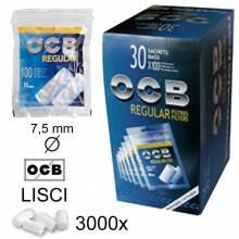 Filtri OCB Extra Slim 5,7 mm rigati sigarette 2400 tabacco 20x confezioni da 120
